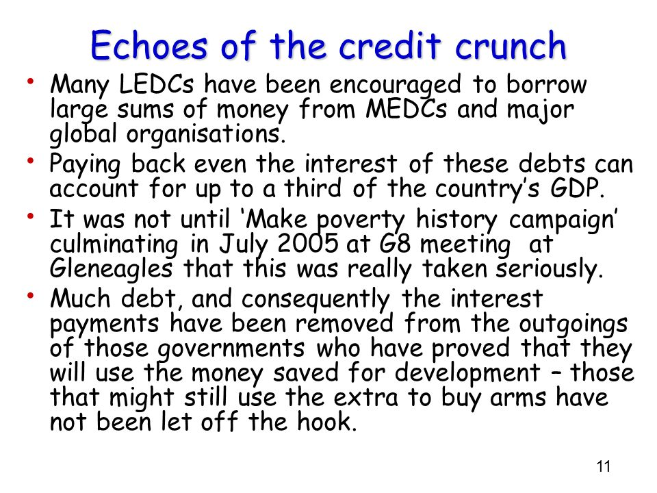 Echoes of the credit crunch