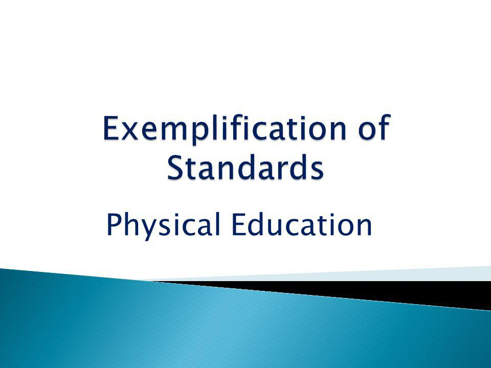 Exemplification of Standards