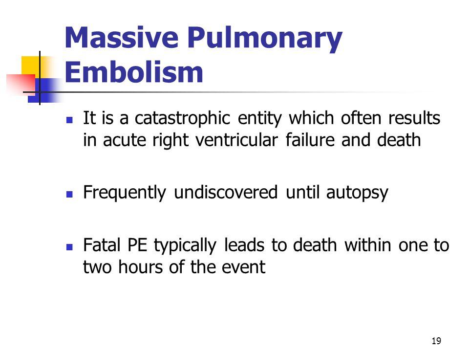 Massive Pulmonary Embolism