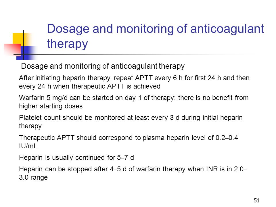 Dosage and monitoring of anticoagulant therapy