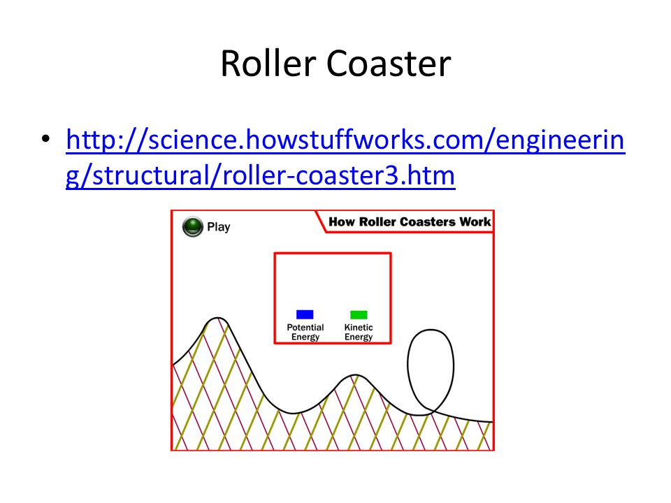 Roller Coaster http://science.howstuffworks.com/engineering/structural/roller-coaster3.htm