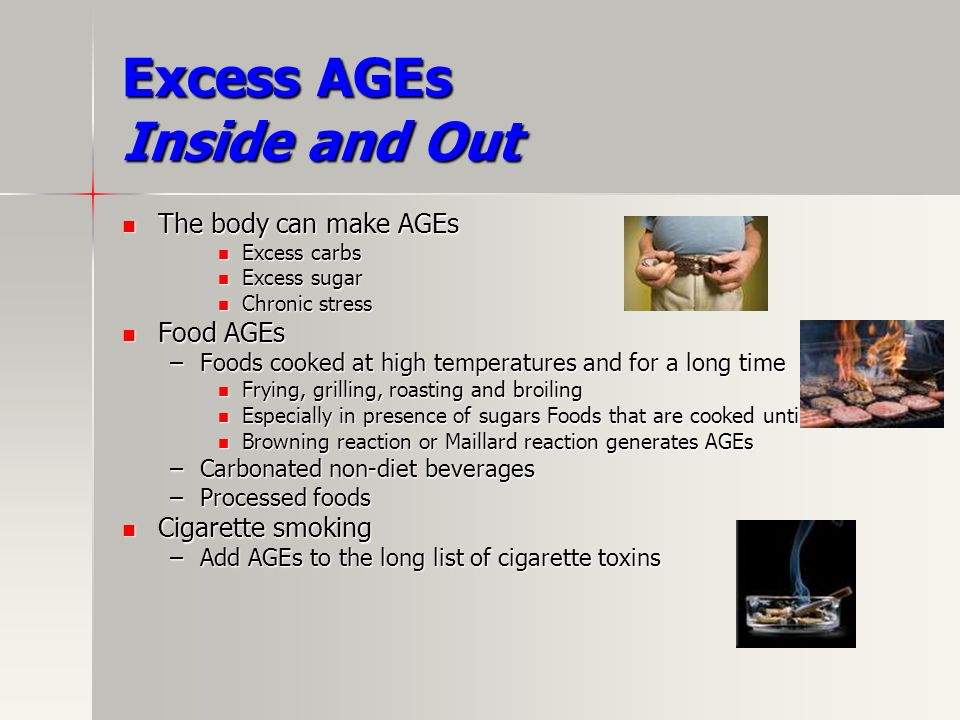 Excess AGEs Inside and Out
