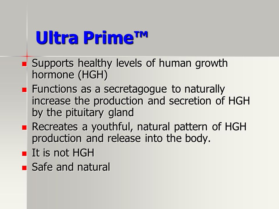 Ultra Prime™ Supports healthy levels of human growth hormone (HGH)