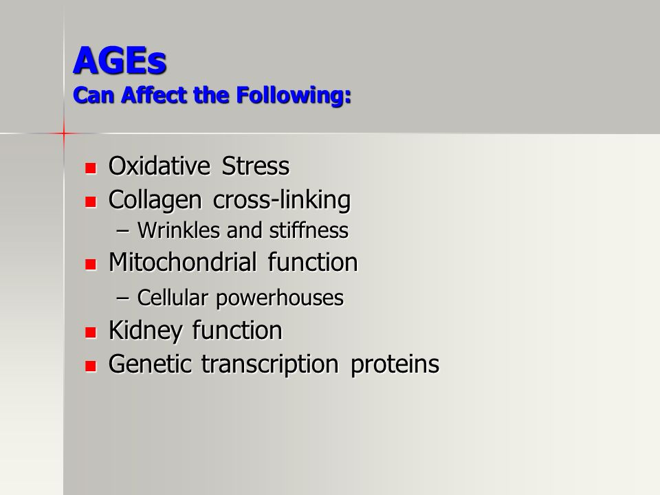 AGEs Can Affect the Following: