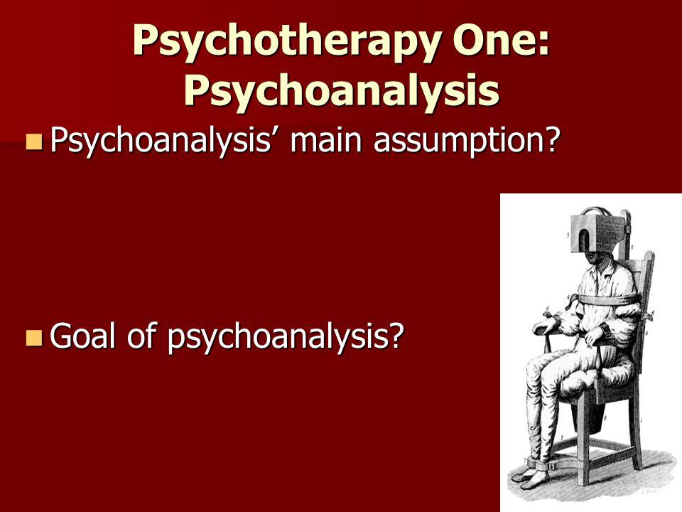 Psychotherapy One: Psychoanalysis