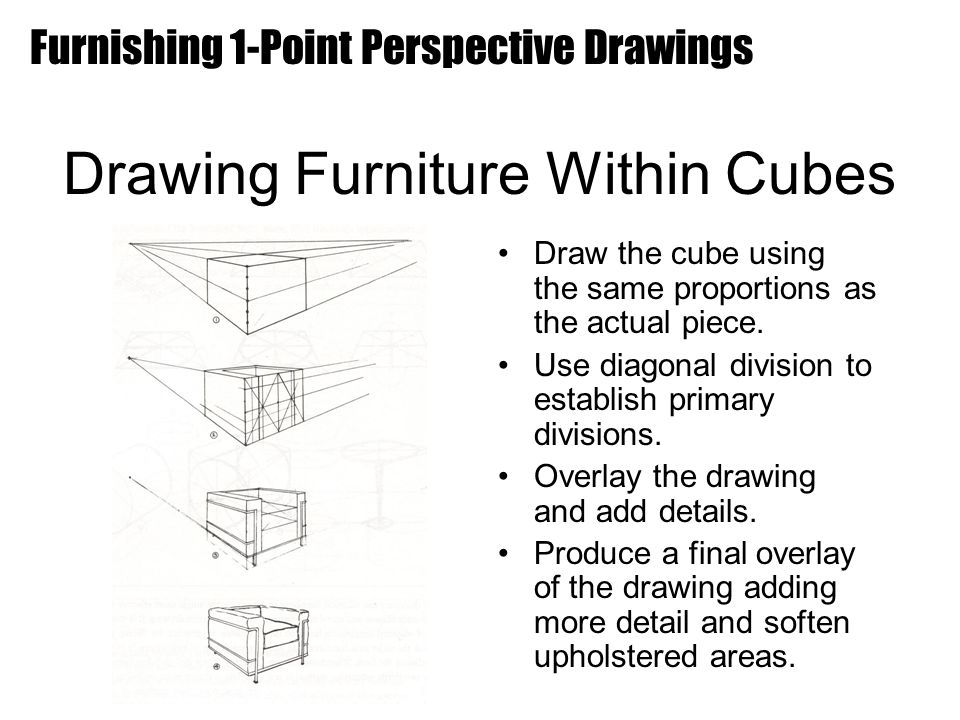 Drawing Furniture Within Cubes