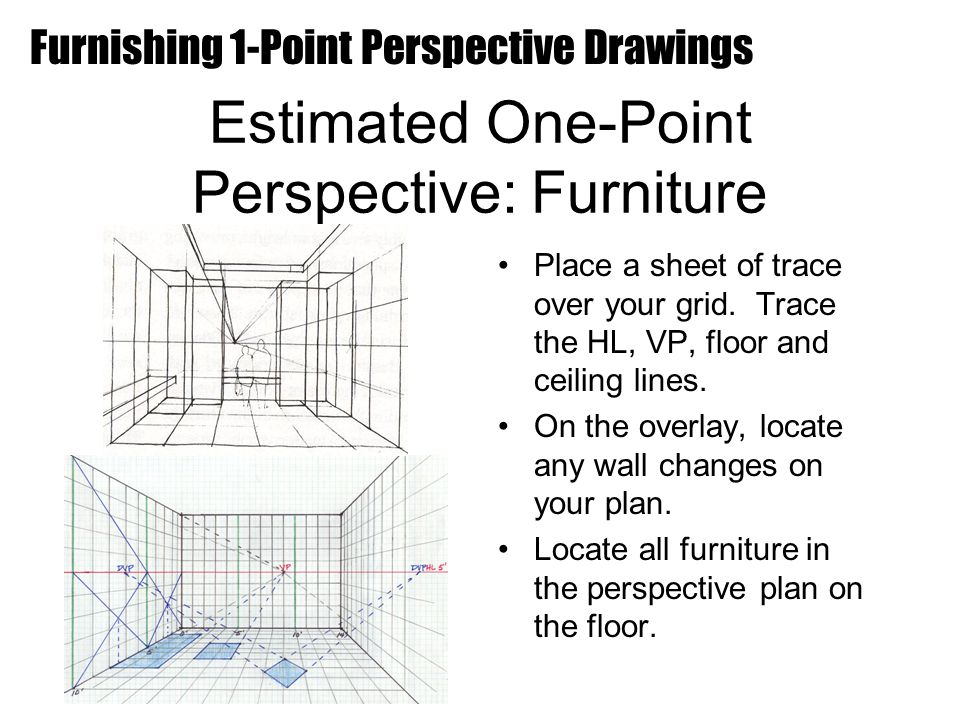 Estimated One-Point Perspective: Furniture