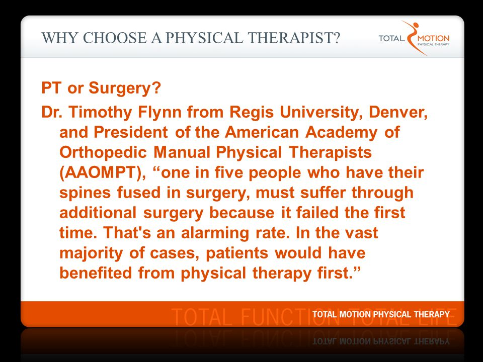 Why Choose a Physical Therapist