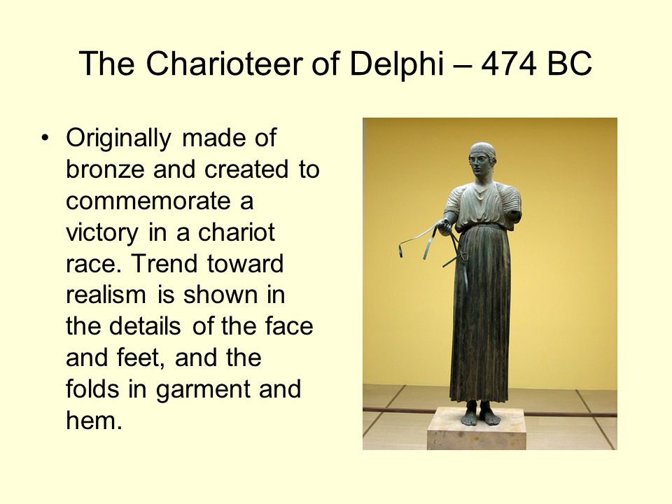 The Charioteer of Delphi – 474 BC