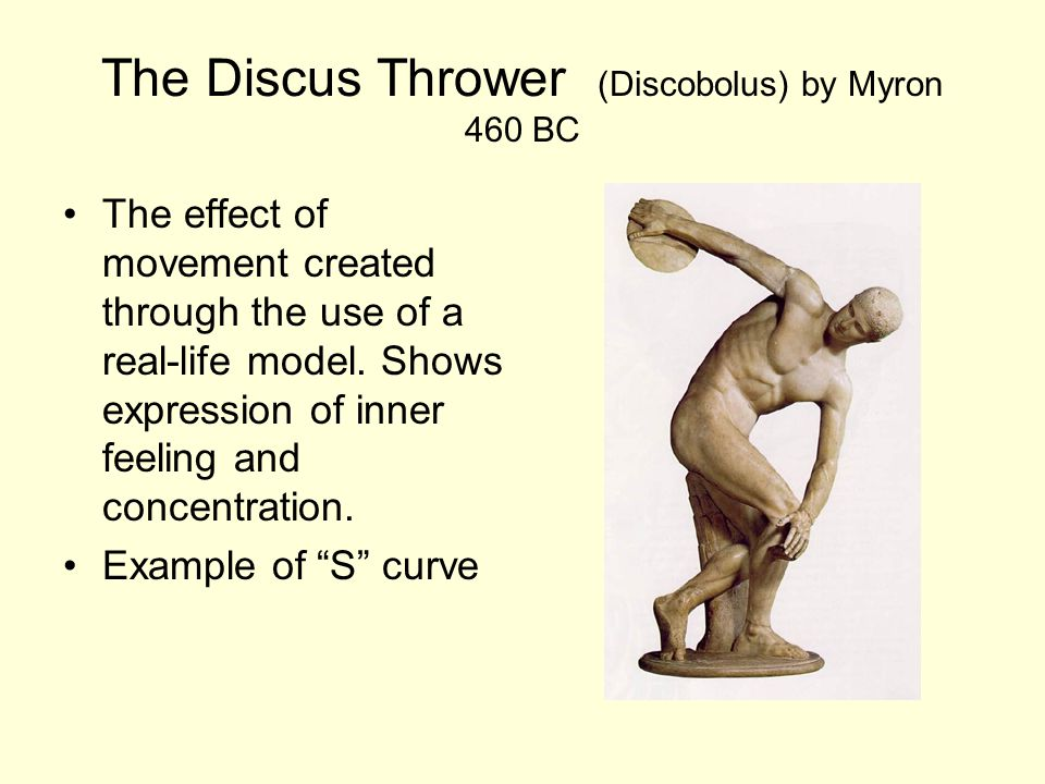 The Discus Thrower (Discobolus) by Myron 460 BC