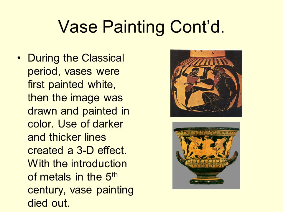 Vase Painting Cont'd.