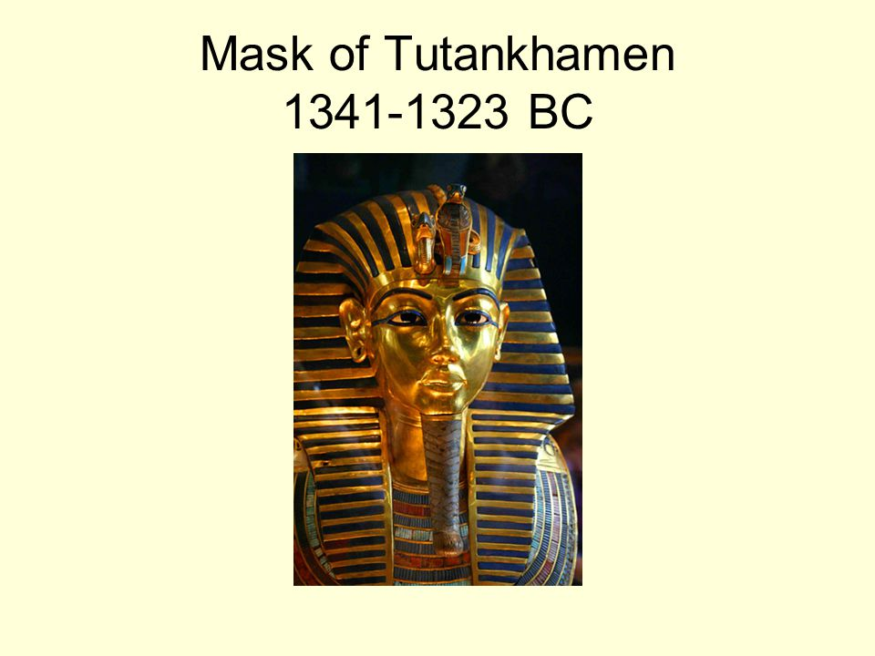 Mask of Tutankhamen 1341-1323 BC