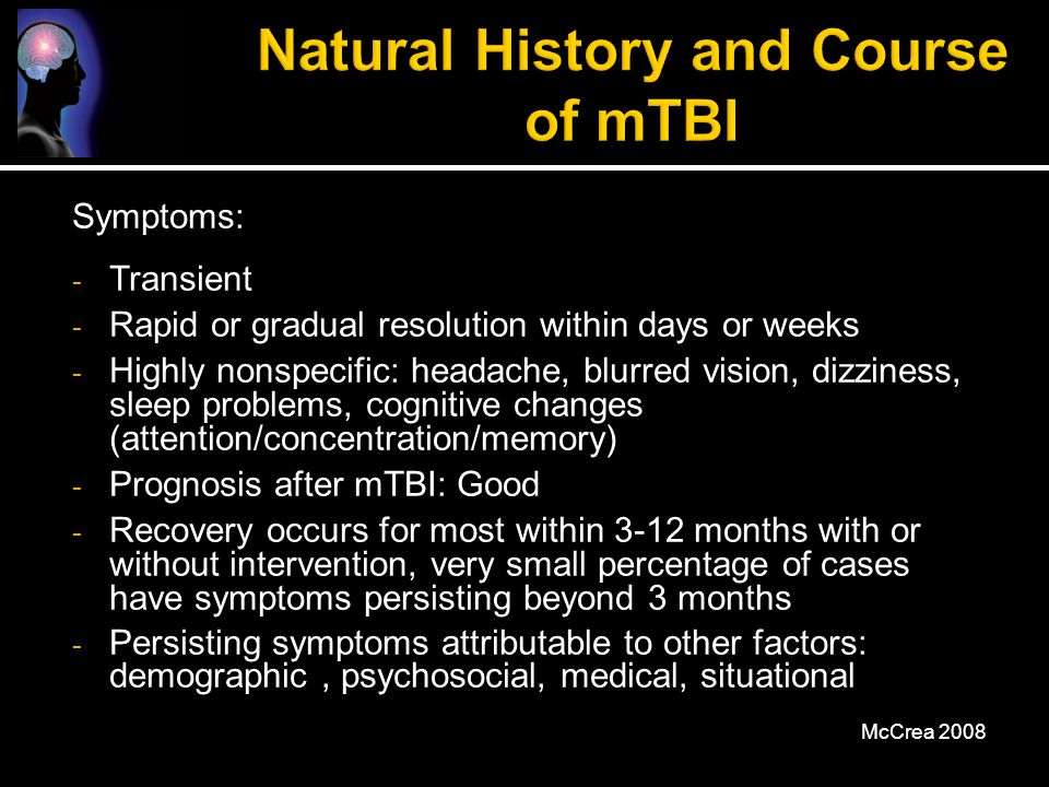 Natural History and Course of mTBI