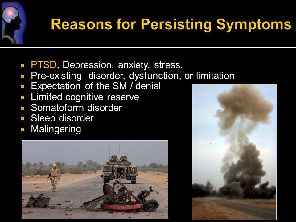 Reasons for Persisting Symptoms