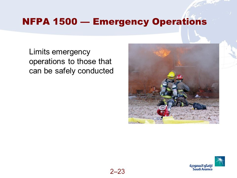 NFPA 1500 — Emergency Operations
