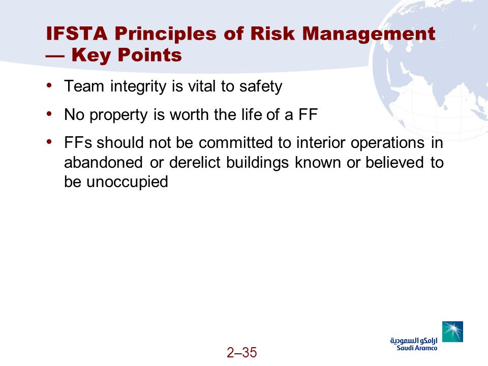 IFSTA Principles of Risk Management — Key Points