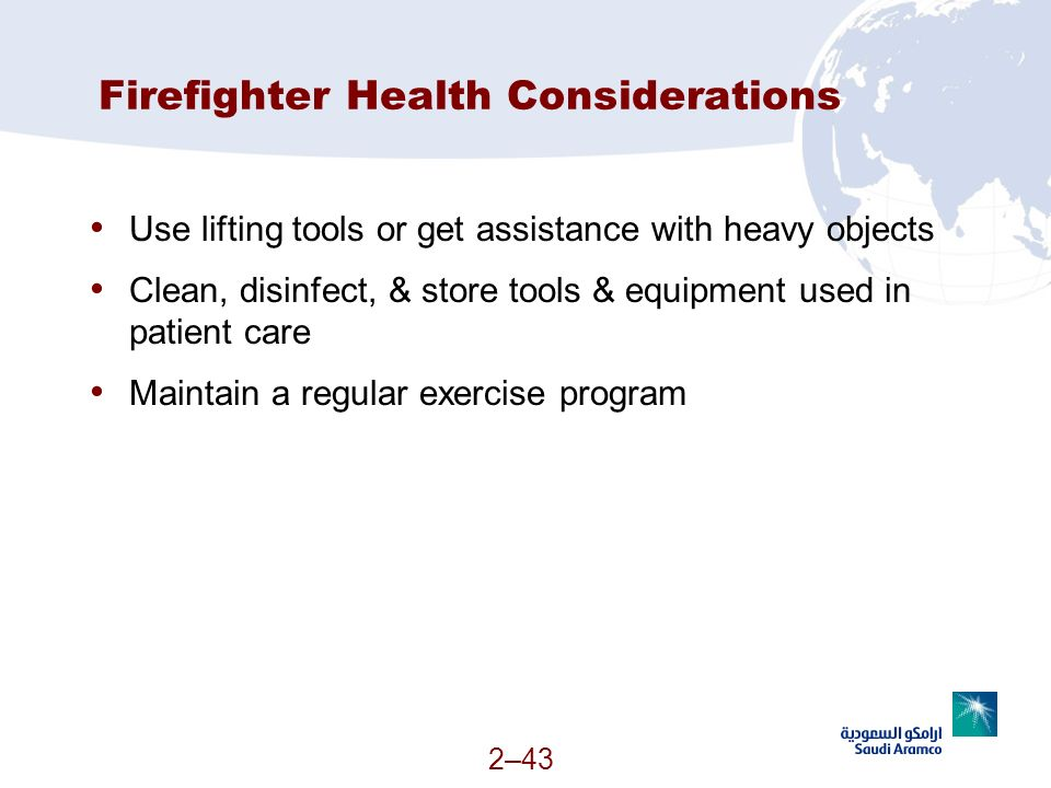 Firefighter Health Considerations
