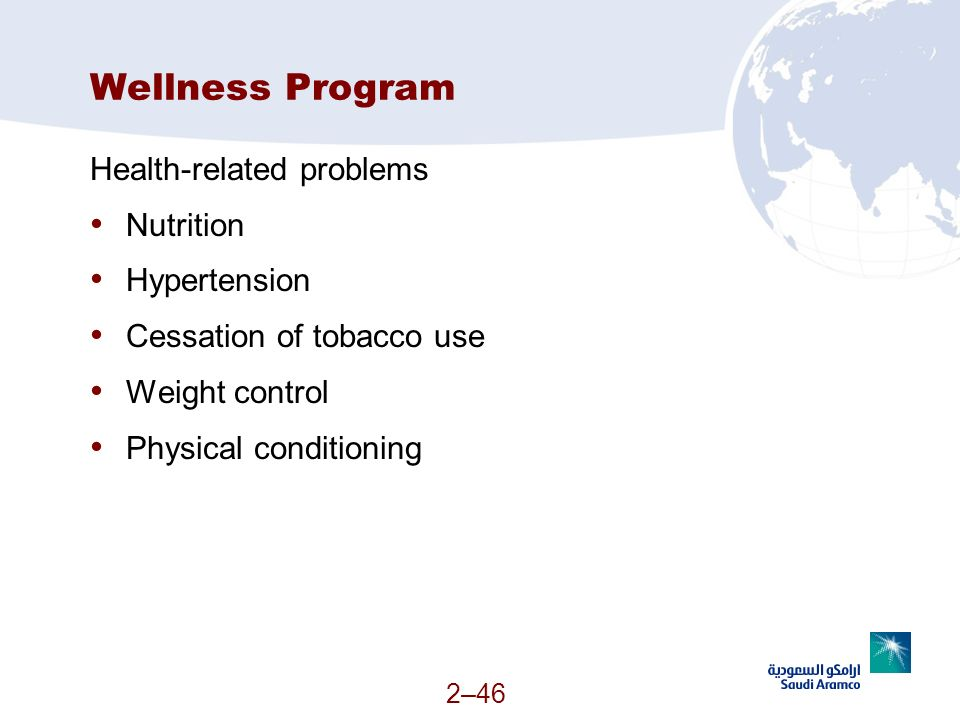 Wellness Program Health-related problems Nutrition Hypertension