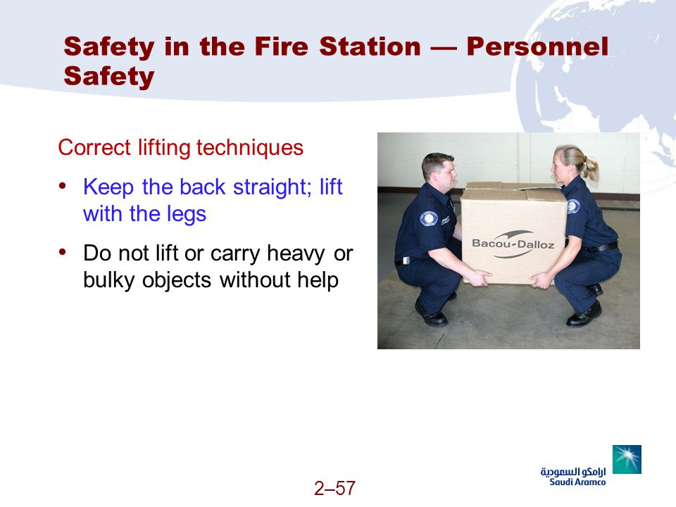 Safety in the Fire Station — Personnel Safety