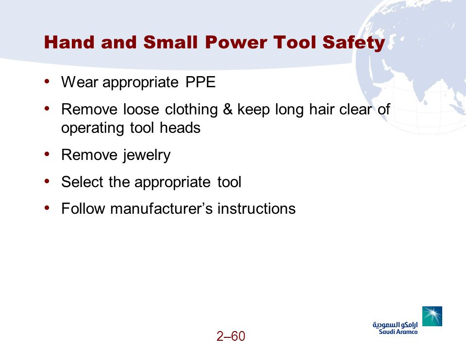 Hand and Small Power Tool Safety