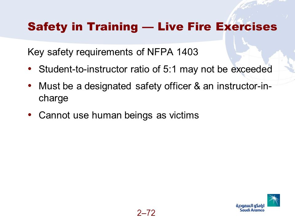 Safety in Training — Live Fire Exercises