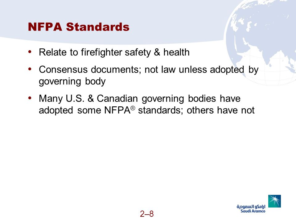 NFPA Standards Relate to firefighter safety & health