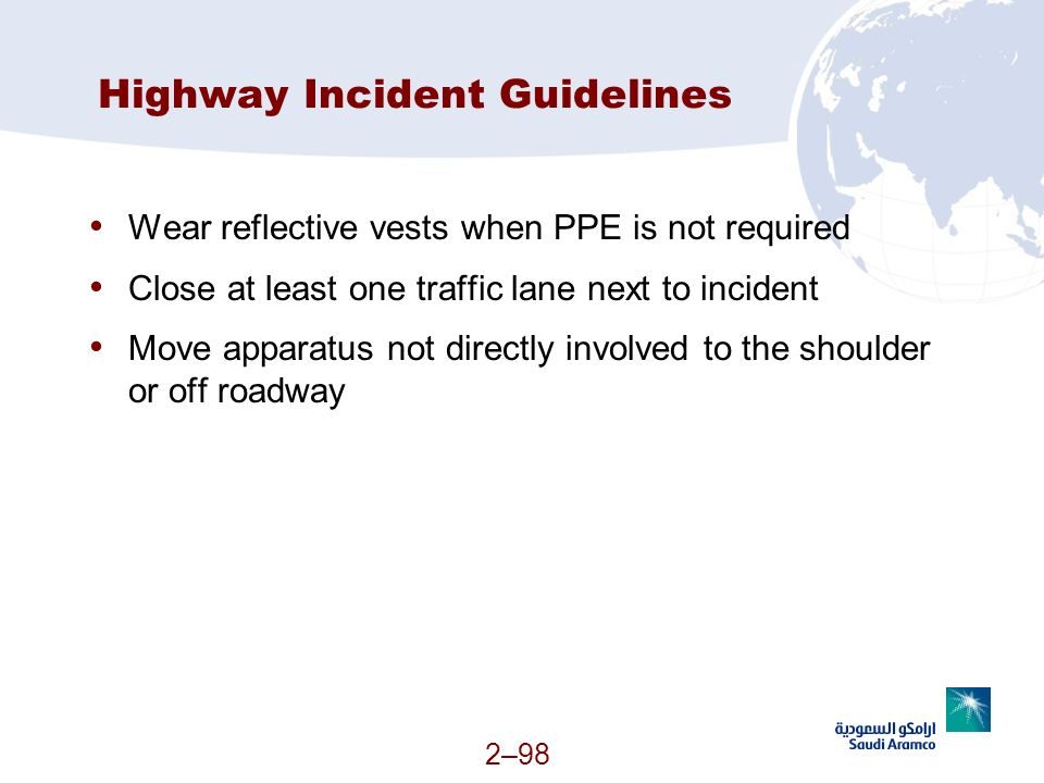 Highway Incident Guidelines