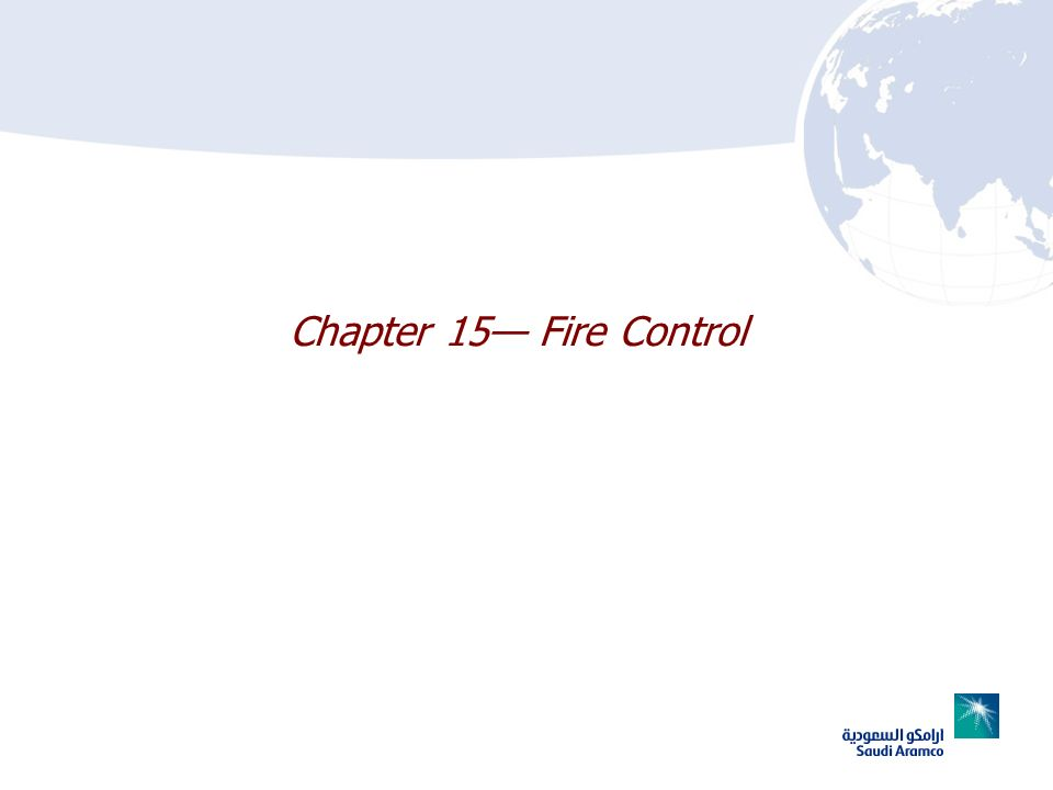 Chapter 15— Fire Control