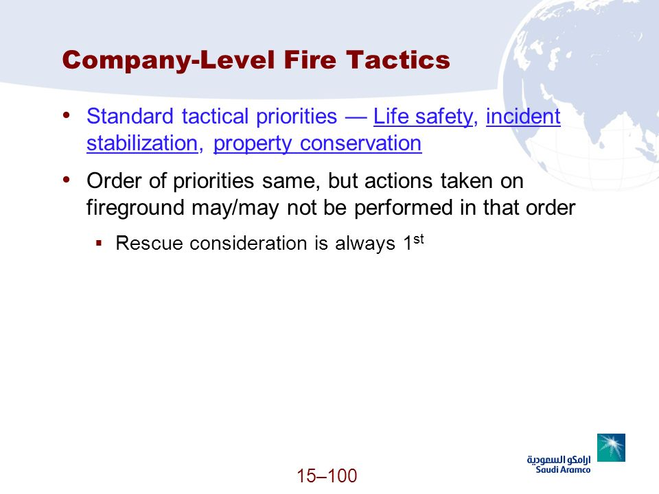 Company-Level Fire Tactics