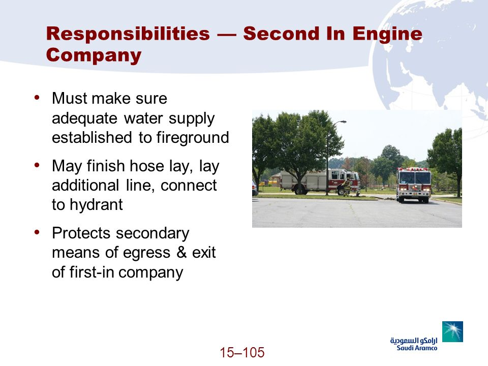Responsibilities — Second In Engine Company