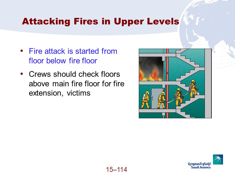 Attacking Fires in Upper Levels