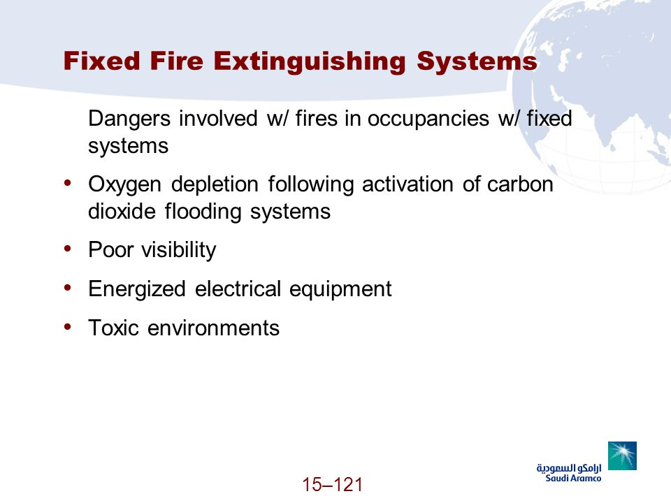 Fixed Fire Extinguishing Systems