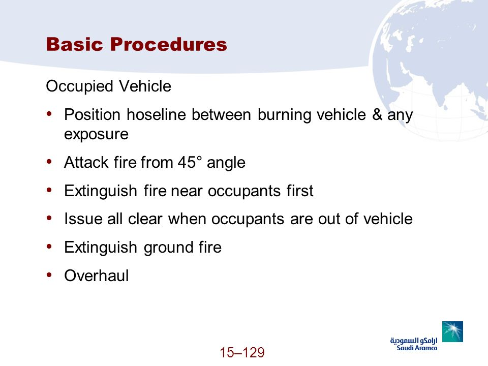 Basic Procedures Occupied Vehicle