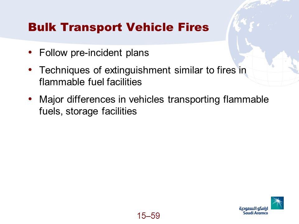 Bulk Transport Vehicle Fires