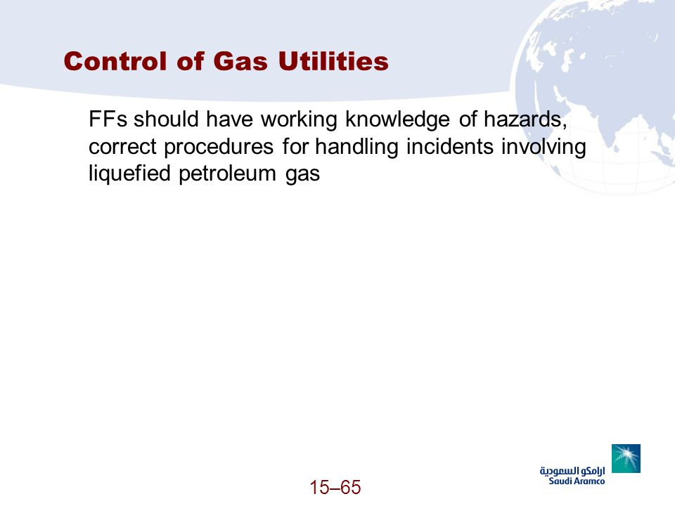 Control of Gas Utilities