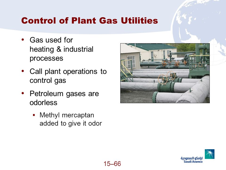 Control of Plant Gas Utilities