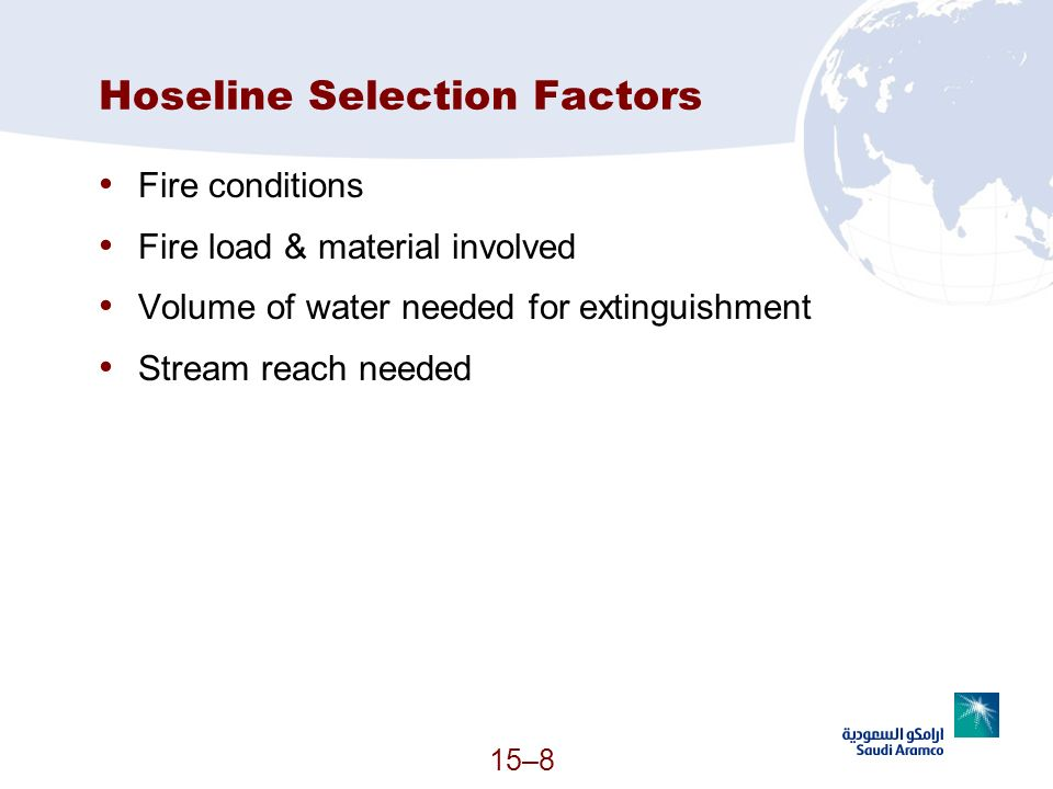 Hoseline Selection Factors