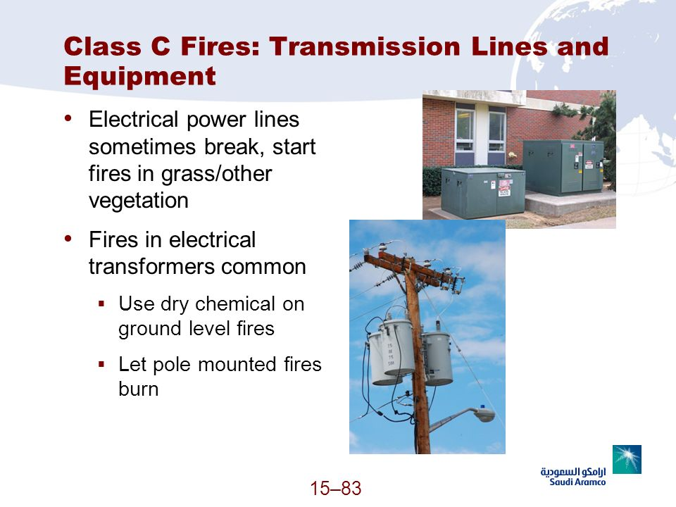 Class C Fires: Transmission Lines and Equipment