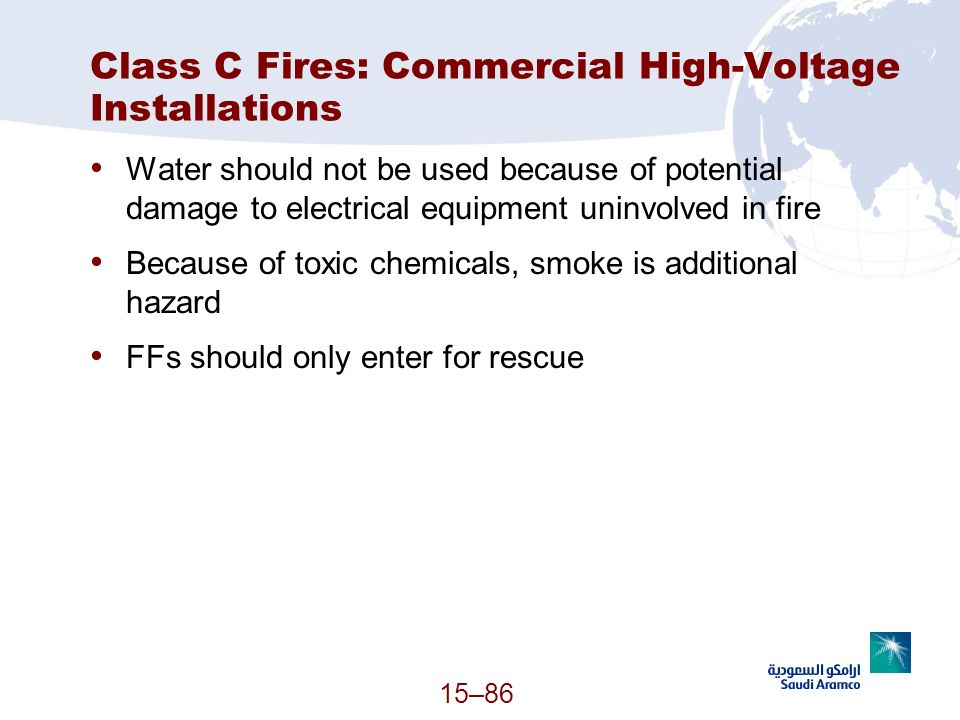 Class C Fires: Commercial High-Voltage Installations