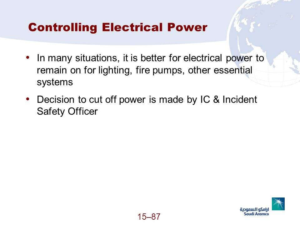 Controlling Electrical Power