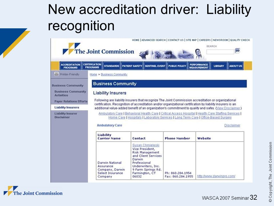 New accreditation driver: Liability recognition