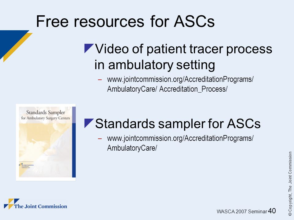 Free resources for ASCs