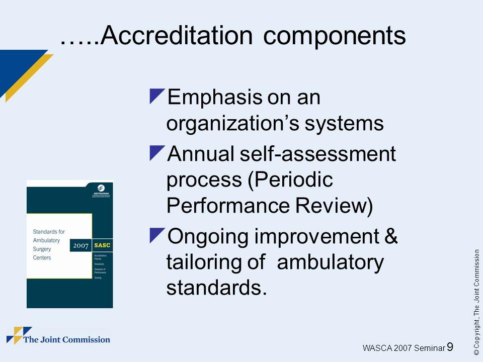 …..Accreditation components