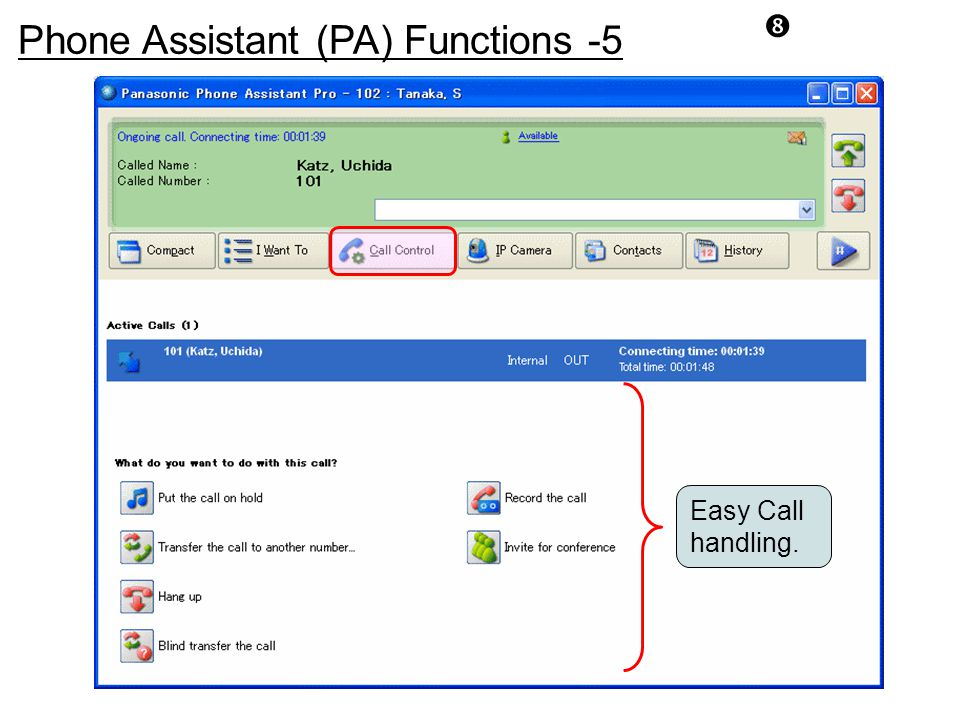 Phone Assistant (PA) Functions -5