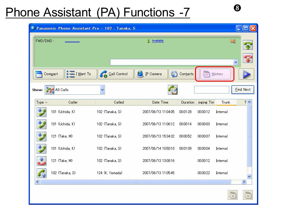 Phone Assistant (PA) Functions -7