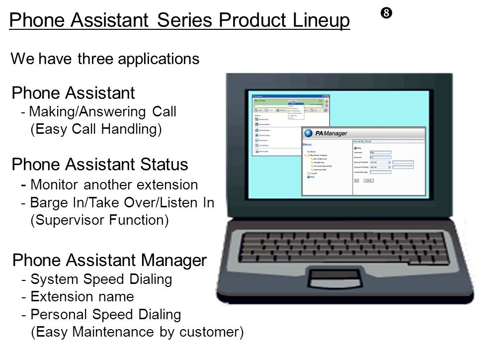 Phone Assistant Series Product Lineup