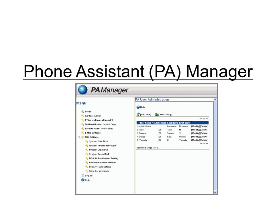Phone Assistant (PA) Manager