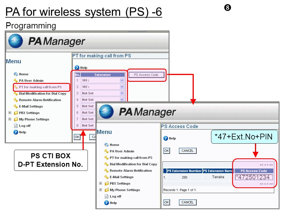 PA for wireless system (PS) -6