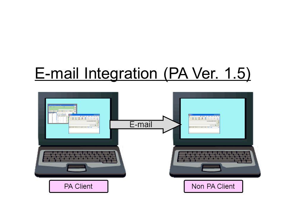 E-mail Integration (PA Ver. 1.5)