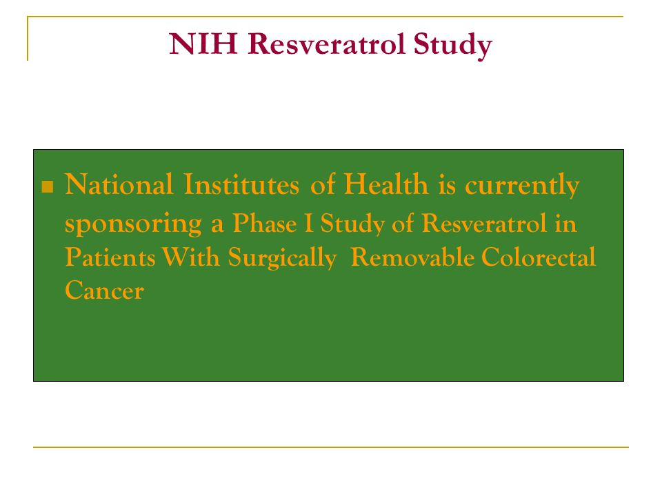 NIH Resveratrol Study